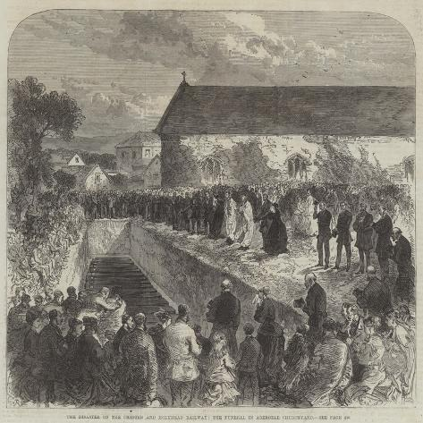 The Disaster on the Chester and Holyhead Railway, the Funeral in Abergele Churchyard Giclée-Druck