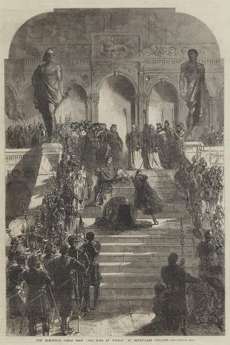 The Execution Scene from The Doge of Venice, at Drury-Lane Theatre Giclée-Druck