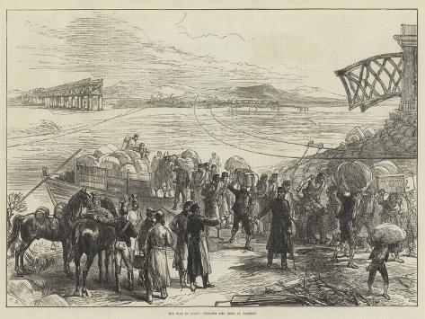 The War in Spain, Crossing the Ebro at Castijon Giclée-Druck