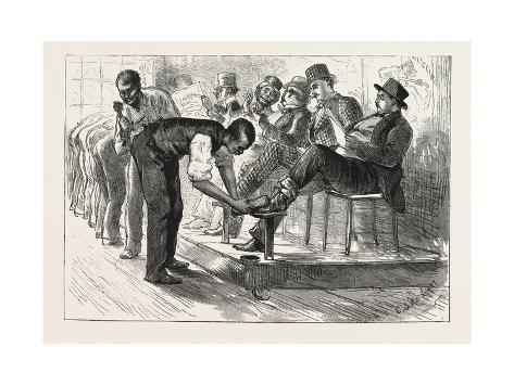 A Centennial Shine: a Sketch at the Philadelphia Exhibition, 1876, Usa Giclée-Druck
