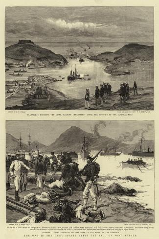 The War in the East, Scenes after the Fall of Port Arthur Giclée-Druck