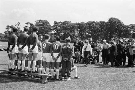 Everton Squad Annual Photocall 1969 Fotografie-Druck