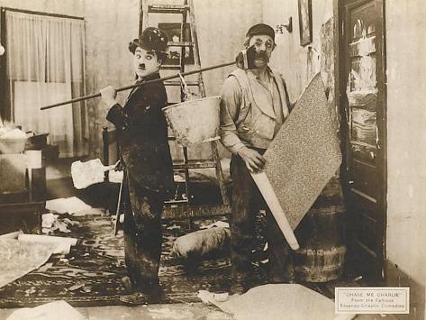 Chase Me Charlie, Charlie Chaplin, 1918 Kunstdruck
