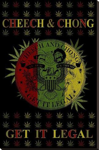 Cheech and Chong - Get It Legal Bedruckte aufgespannte Leinwand