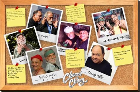 Cheech & Chong- Corkboard Diaries Bedruckte aufgespannte Leinwand