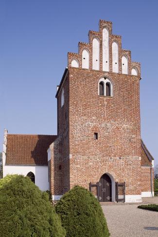 Church of Wester Broby, Soroe, Denmark, 12th-16th Century Giclée-Druck