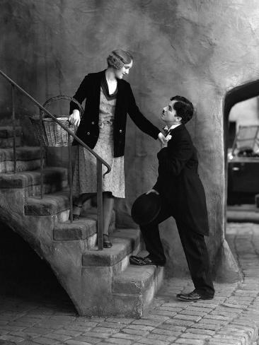 City Lights, Virginia Cherrill, Charlie Chaplin, 1931 Foto