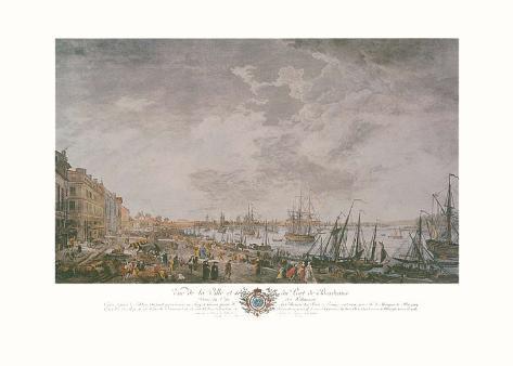 Vue de la ville et du port de bordeaux kunstdrucke von - Vue du port de bordeaux joseph vernet ...