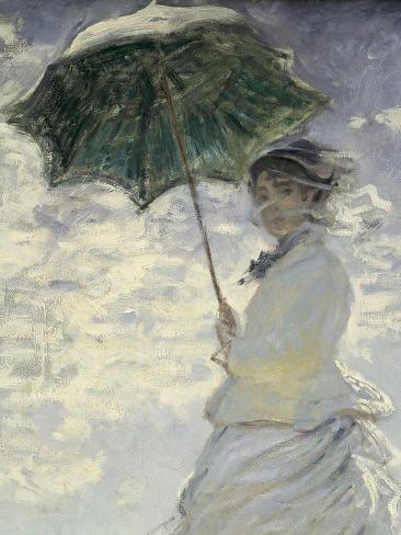 Frau Mit Sonnenschirm Madame Monet Und Ihr Sohn Poster Von Claude