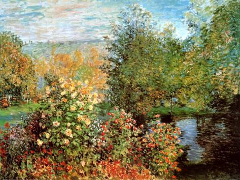 Garten Von Montgeron Poster von Claude Monet bei AllPosters.de