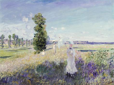 La Promenade (Argenteuil), 1875 Giclée-Druck