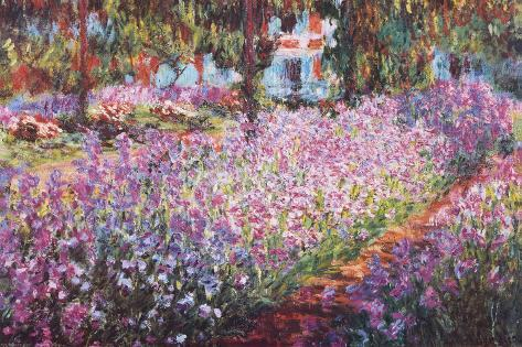 monets garten in giverny poster von claude monet bei. Black Bedroom Furniture Sets. Home Design Ideas
