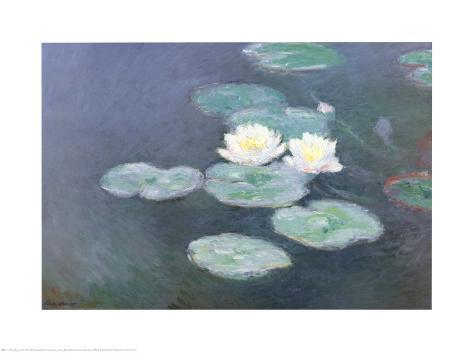 Seerosen im Abendlicht Kunstdrucke von Claude Monet bei AllPosters.de