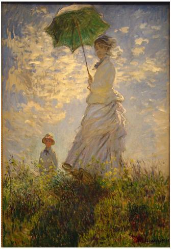 Claude Monet (Woman with a Parasol, 1875) Art Poster Print Poster