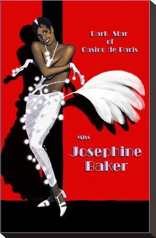 Josephine Baker Bedruckte aufgespannte Leinwand