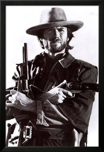 Clint Eastwood Laminiertes gerahmtes Poster