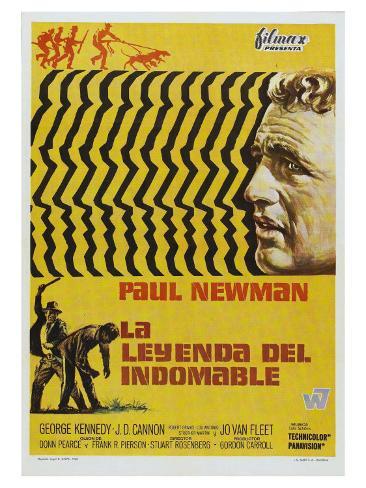 Cool Hand Luke, Spanish Movie Poster, 1967 Kunstdruck