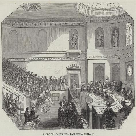 Court of Proprietors, East India Company Giclée-Druck