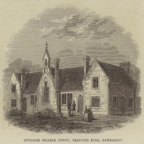 Cowlinge College School, Branches Park, Newmarket Giclée-Druck