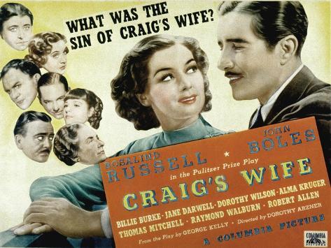 Craig's Wife, with Jane Darwell, Billie Burke, Thomas Mitchell, and Robert Allen, 1936 Foto