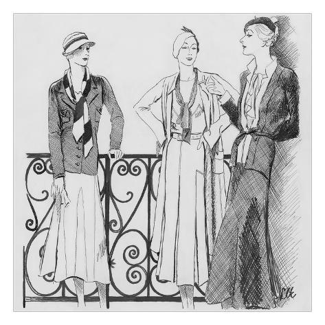 Vogue - February 1932 Giclée-Premiumdruck