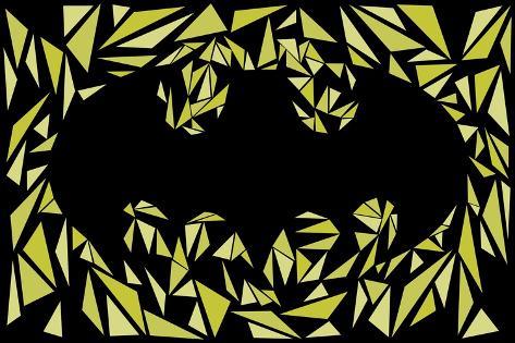 Batman Symbol Kunstdruk