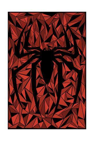 Spider Symbol Kunstdruck