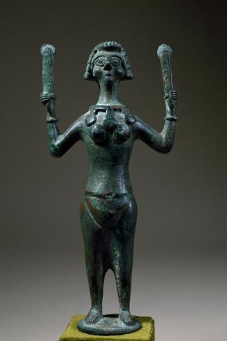 Dancer with Castanets, Bronze Statue, Egypt, Coptic Civilization, 6th-8th Century Giclée-Druck