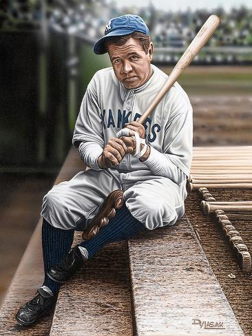Babe Ruth Sitting on Top Step Giclée-Druck