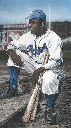 Jackie Robinson Minor League Royals Giclée-Druck