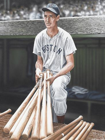 Ted Williams on Deck Giclée-Druck