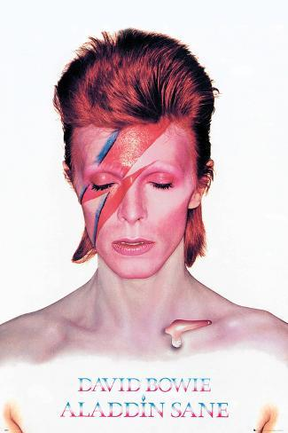 David Bowie- Aladdin Sane Album Cover Poster