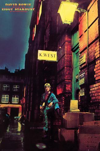 David Bowie- Ziggy Stardust Album Cover Poster