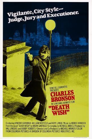 Death Wish, Charles Bronson, 1974 Kunstdruck