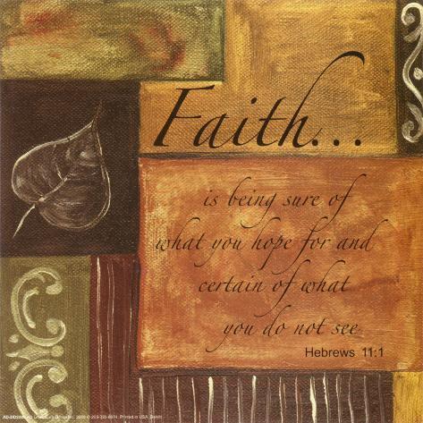 Inspirierende Worte: Glaube Kunstdruck