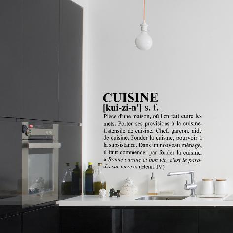 Definition von Küche, Französisch Wandtattoo - AllPosters.at