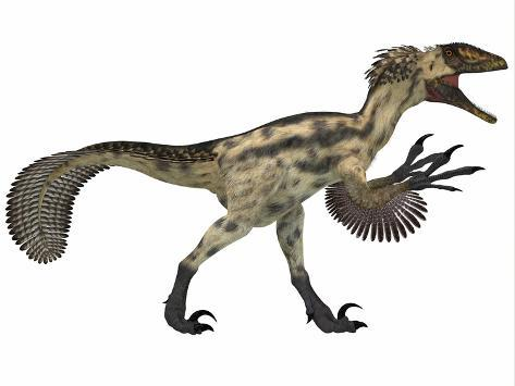 Deinonychus, a Carnivorous Dinosaur from the Early Cretaceous Period Kunstdruck