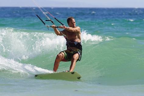 Man Kite Surfing; Costa De La Luz,Andalusia,Spain Fotografie-Druck