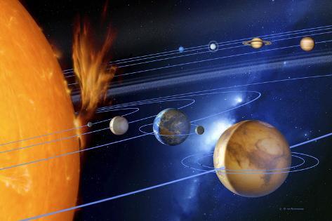 Sonnensystem Fotografie-Druck