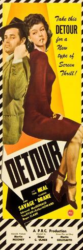 Detour, Tom Neal, Ann Savage, 1945 Kunstdruck