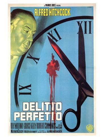 Dial M For Murder, Italian Movie Poster, 1954 Kunstdruck