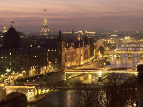 Die Brücken von Paris Kunstdruck