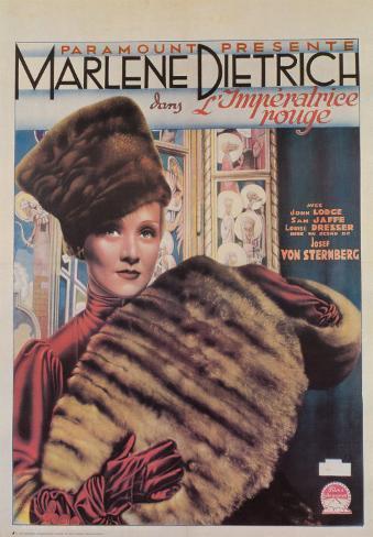 Die scharlachrote Kaiserin (französisches Filmposter) Kunstdruck