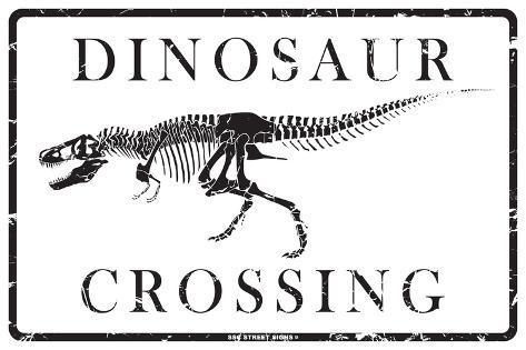 Dinosaur Crossing Blechschild