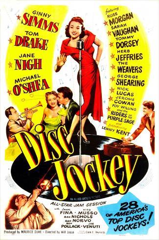 Disc Jockey Kunstdruck