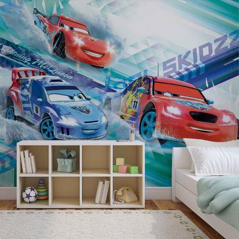 Disney Cars - Lightning McQueen & Raoul CaRoule - Vlies Non-Woven Mural Vlies muurposter