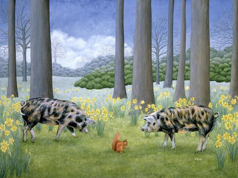Piggy in the Middle Giclée-Druck