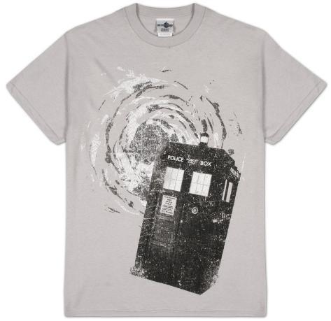 Doctor Who - B&W Tardis New Logo T-Shirt