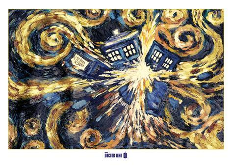 Doctor Who- Van Gogh's Exploding Tardis Riesenposter