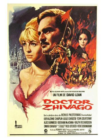 Doctor Zhivago, Spanish Movie Poster, 1965 Kunstdruck
